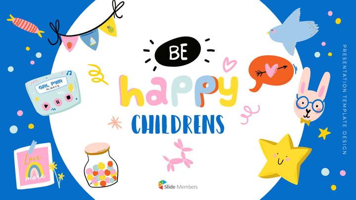 행복한 아이들 파워포인트 비즈니스 템플릿_01