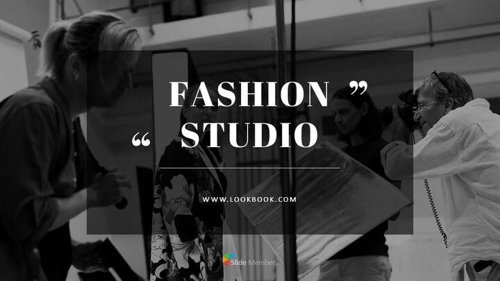 Fashion Studio Presentation PowerPoint Templates Design_01