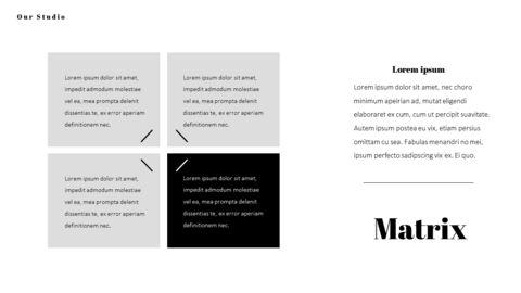 패션 스튜디오 프레젠테이션 PowerPoint 템플릿 디자인_30