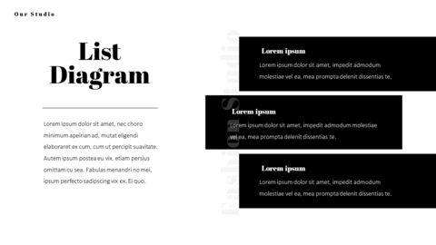 패션 스튜디오 프레젠테이션 PowerPoint 템플릿 디자인_36