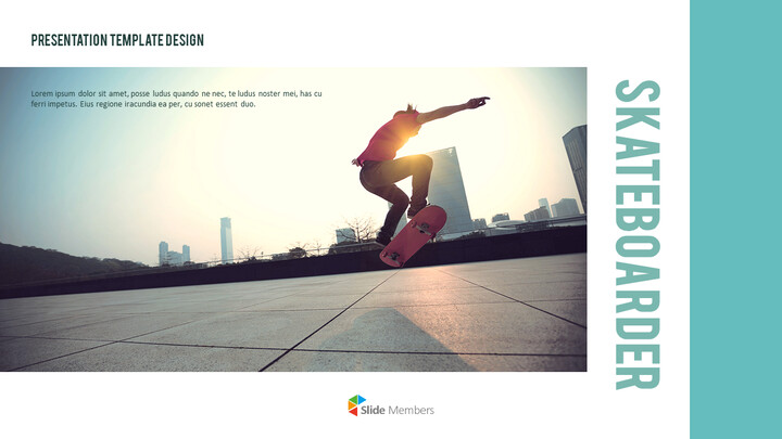 Skateboarder Theme PPT Templates_01