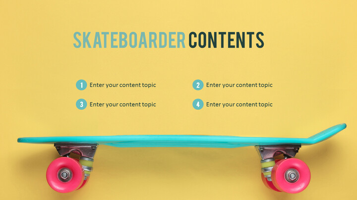 Skateboarder Theme PPT Templates_02
