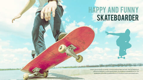 Skateboarder Theme PPT Templates_05