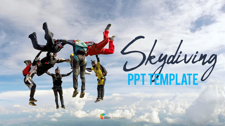 Skydiving premium PowerPoint Templates_01