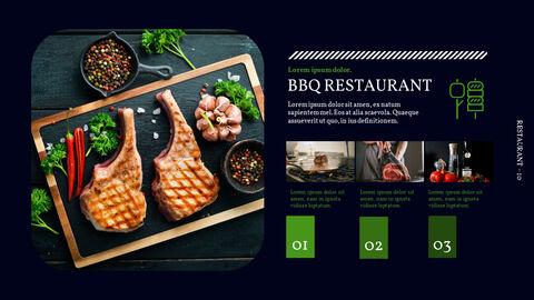 바베큐 레스토랑  비즈니스 사업 템플릿 PPT_10