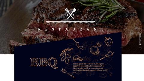 바베큐 레스토랑  비즈니스 사업 템플릿 PPT_11