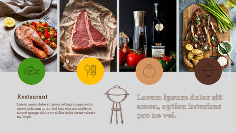 바베큐 레스토랑  비즈니스 사업 템플릿 PPT_15