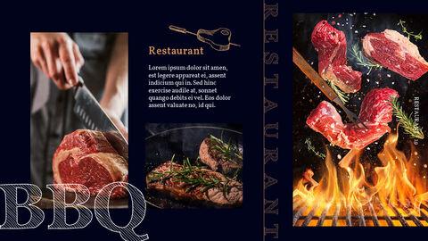 바베큐 레스토랑  비즈니스 사업 템플릿 PPT_19