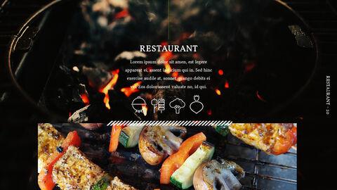 바베큐 레스토랑  비즈니스 사업 템플릿 PPT_20