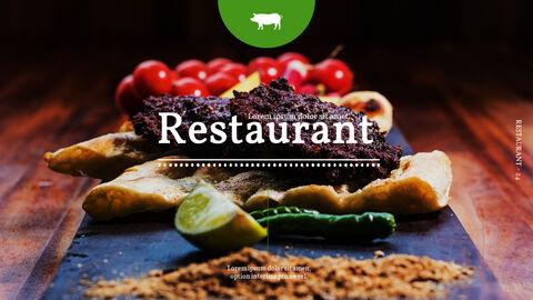 바베큐 레스토랑  비즈니스 사업 템플릿 PPT_24