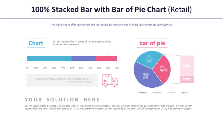 100% Stacked Bar with Bar of Pie Chart (Retail)_01
