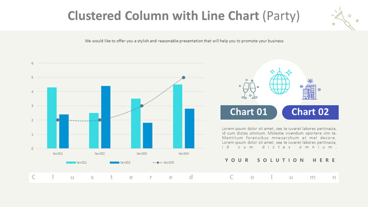 Clustered Column with Line Chart (Party)_01