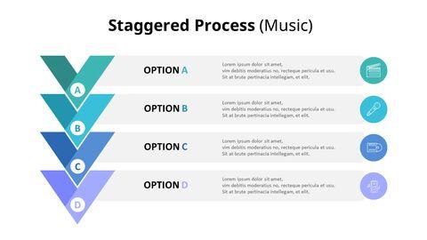 4 단계 쉐브론 프로세스 다이어그램 (음악)_03