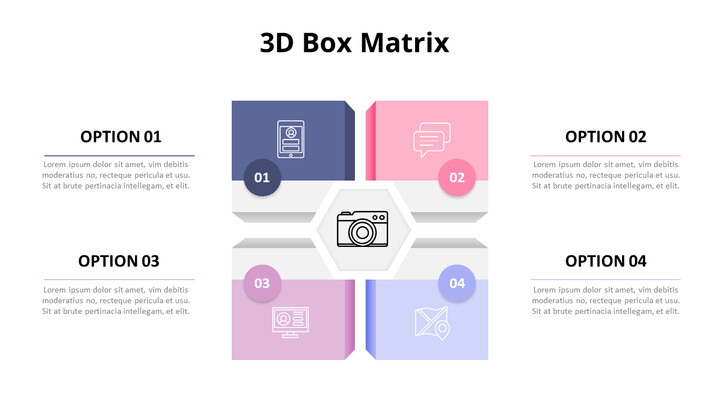 Pastel Tone 3D Box Matrix  Diagram_01