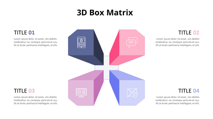 Pastel Tone 3D Box Matrix  Diagram_02