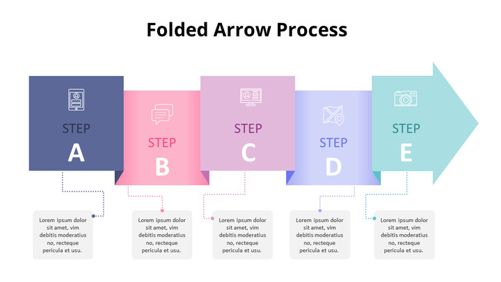 Pastel Tone Arrow Shape Process Diagram_01