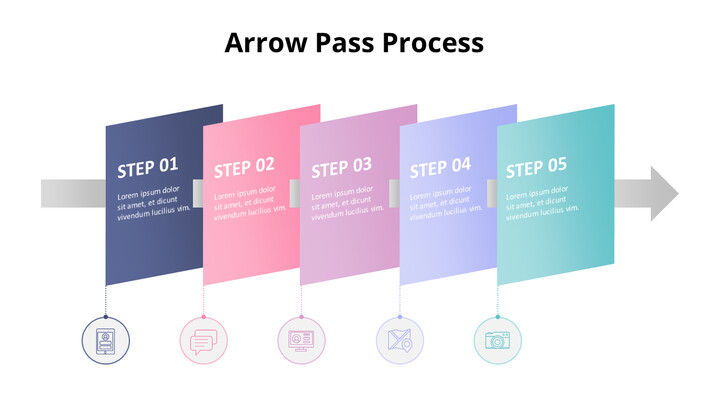 Pastel Tone Arrow Shape Process Diagram_02