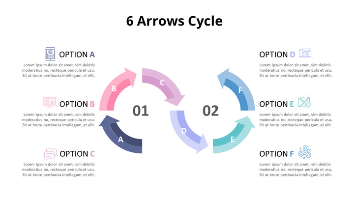 Pastel Tone Arrows Cycle Diagram_02