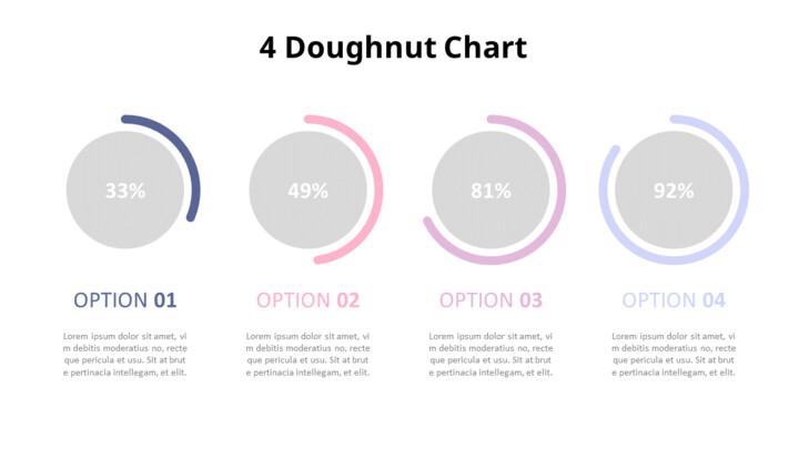 파스텔 톤 도넛 차트 다이어그램 세트_02