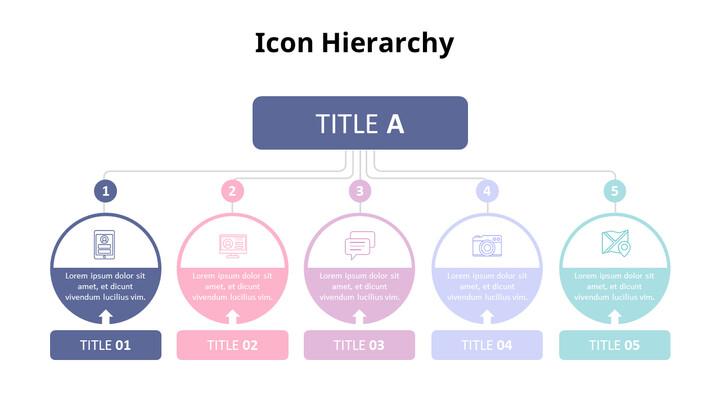 Pastel Tone Icon Hierarchy Diagram Set_02