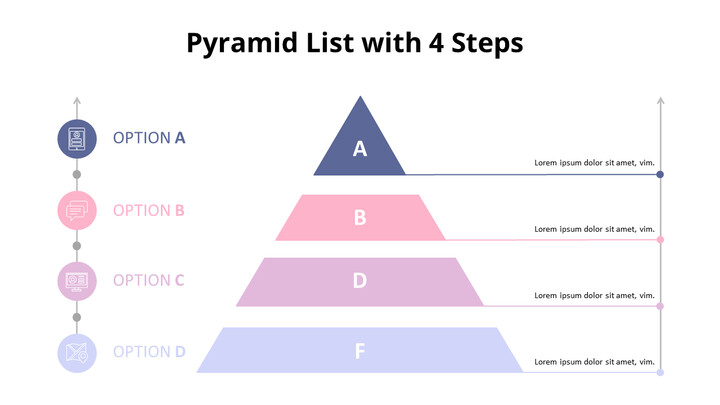 Pastel Tone Pyramid List Diagram_02