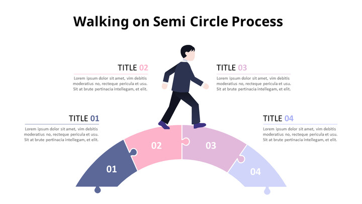 Pastel Tone Semi-Circle Process Puzzle Diagram_01