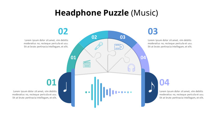 Puzzle of Music Note and Headphone Diagram (Music)_01