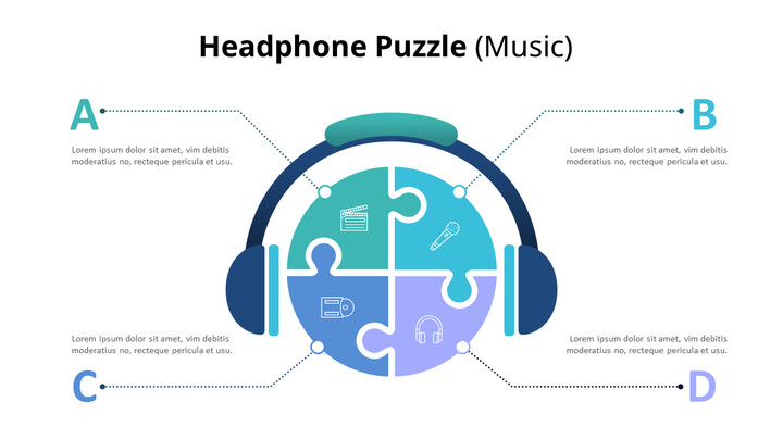 Puzzle of Music Note and Headphone Diagram (Music)_02