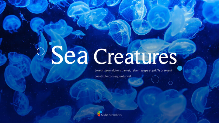 Sea Creatures Templates for PowerPoint_01
