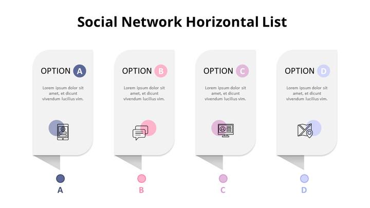 Social Network Horizontal List Diagram_02