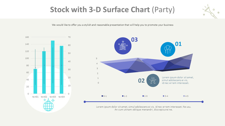 Stock with 3-D Surface Chart (Party)_01