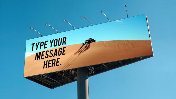 Billboard Mockup PPT Templates Design_01