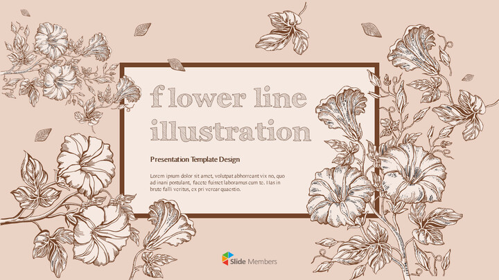 Flower Illustration premium PowerPoint Templates_01