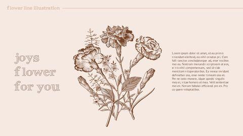 꽃 일러스트 프리미엄 파워포인트 템플릿_03