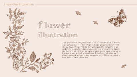 꽃 일러스트 프리미엄 파워포인트 템플릿_05