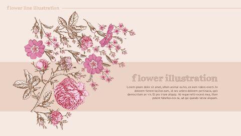 꽃 일러스트 프리미엄 파워포인트 템플릿_06