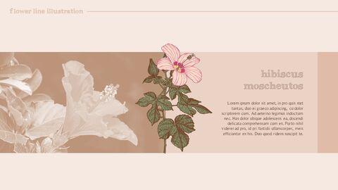 꽃 일러스트 프리미엄 파워포인트 템플릿_13
