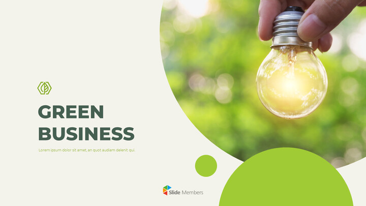 Green Business PPT PowerPoint Table of Contents_01