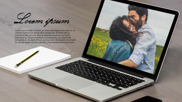 Laptop Mockup PPT Templates Design_01