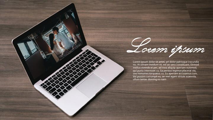 Laptop Mockup PPT Templates Design_02