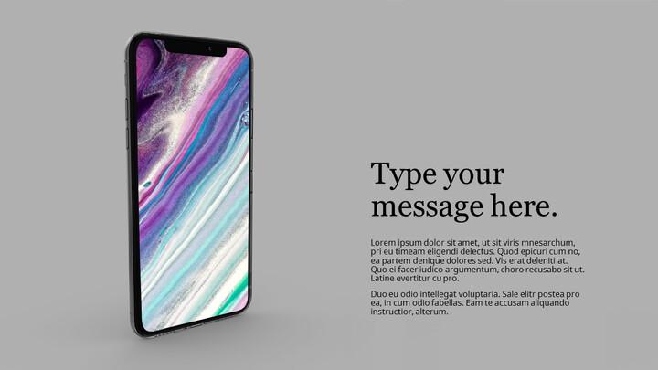 Mockup iPhone PPT Templates Design_01