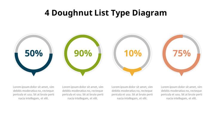 Four Steps Progress Doughnut Chart Diagram_01