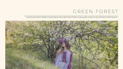 그린 & 봄 심플한 파워포인트 디자인_07