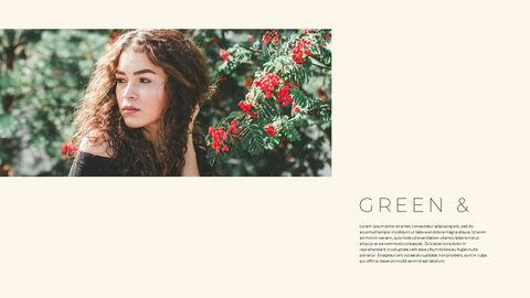 그린 & 봄 심플한 파워포인트 디자인_15