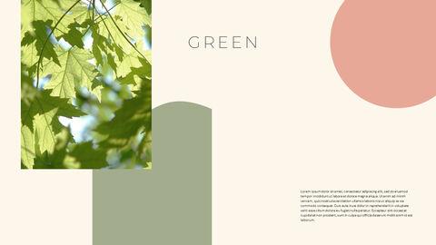 그린 & 봄 심플한 파워포인트 디자인_20