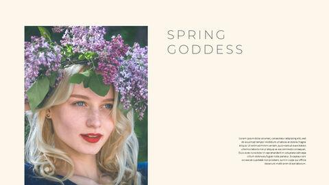 그린 & 봄 심플한 파워포인트 디자인_30