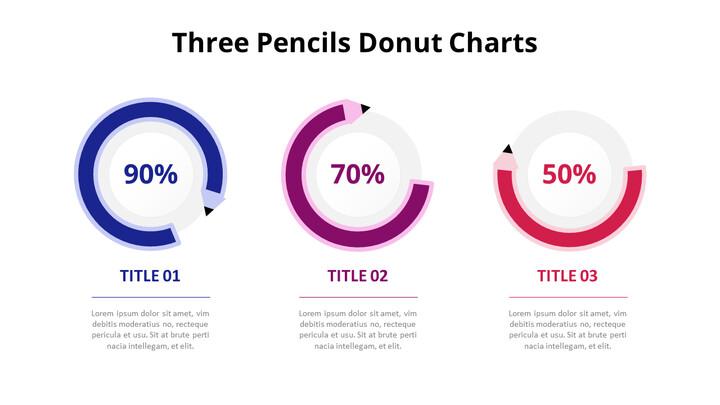 Three Steps Progress Doughnut Graph Chart Diagram_01