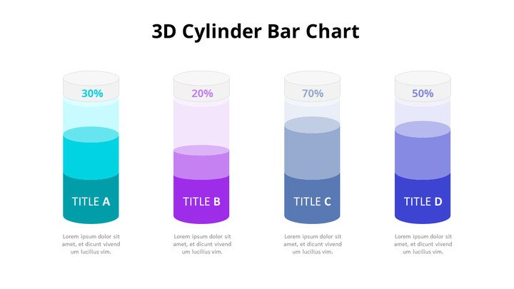 3D 실린더 기둥형 차트 다이어그램_01