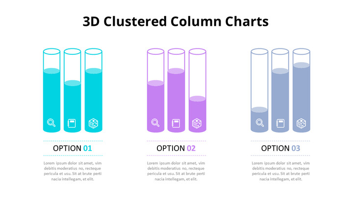 3D Cylinder Column Chart Diagram_02