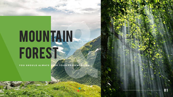 Mountain & Forest PowerPoint Templates for Presentation_01